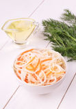 Sauerkraut in white bowl Stock Image