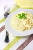 Sauerkraut on white plate Stock Images