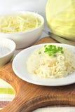 Sauerkraut on white plate Royalty Free Stock Photography