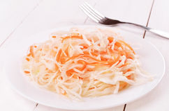 Sauerkraut on white plate Royalty Free Stock Photo