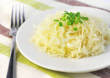 Sauerkraut on a plate Stock Photo