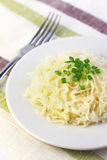Sauerkraut on white plate Stock Photos