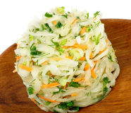 Sauerkraut With Greens Stock Photography
