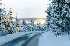 Sauerland in  winter Stock Photos