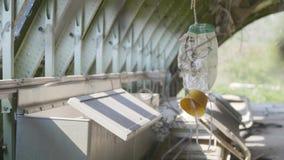 Sauerstoffmaske im Flugzeug stock video footage