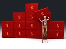 Sauf l'argent Image stock