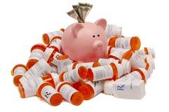 Sauf l'argent sur des prescriptions image libre de droits