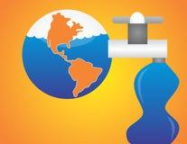 Sauf l'eau sauvez le monde Photographie stock libre de droits