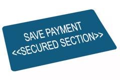 Sauf la carte de paiement Images libres de droits