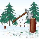 Sauf la forêt Image stock