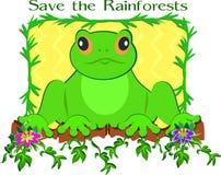 Sauf la grenouille de forêt humide illustration stock