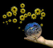 Sauf la terre Image libre de droits