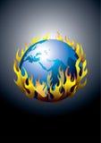 Sauf la terre du réchauffement global Images libres de droits
