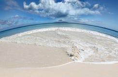 Sauf le concept de réchauffement global de plages des terres Photos libres de droits