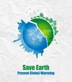 Sauf le concept de Terre-Environnement photos stock
