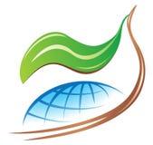 Sauf le logo de la terre Photographie stock libre de droits
