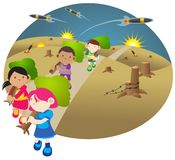 Sauf notre planète   illustration libre de droits