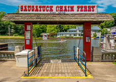 Saugatuck Michigan Chain Ferry Royalty Free Stock Images