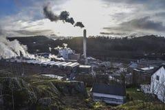 Saugbrugs造纸厂(工厂的部分) 免版税库存照片
