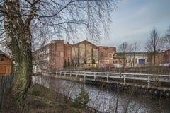 Saugbrugs造纸厂(工厂的部分) 免版税图库摄影
