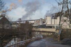 Saugbrugs造纸厂(PM6) 库存图片