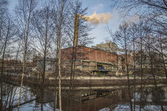 Saugbrugs paper mill (parts of the factory) Royalty Free Stock Photography