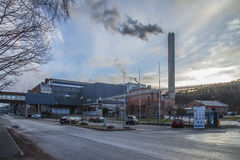 Saugbrugs paper mill (parts of the factory) Royalty Free Stock Photo