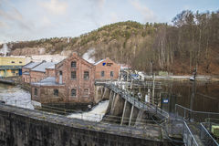 Saugbrugs paper mill (Skonningfoss power plants) Royalty Free Stock Photos