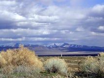 Sauge, montagnes et nuages images libres de droits