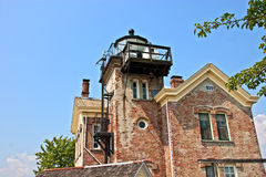 Saugerties lighthouse. Old Saugerties lighthouse on the Hudson River royalty free stock image