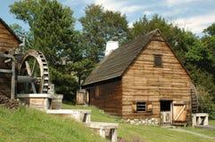 saugus waterwheels dym z hut żelaza Obrazy Royalty Free