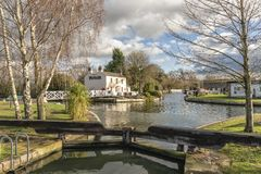 Saul Junction on the Gloucester - Sharpness Ship Canal royalty free stock photo