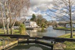 Saul Junction på Gloucesteren - skärpaskeppkanal royaltyfri foto