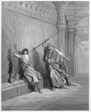 Saul y David stock de ilustración