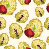 Saule sans couture de modèle de ressort de fleur Illustration de vecteur Photo stock
