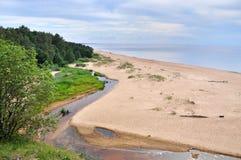 Saulkrasti, η θάλασσα της Βαλτικής, Λετονία στοκ φωτογραφία