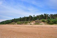 Saulkrasti, η θάλασσα της Βαλτικής, Λετονία στοκ εικόνες