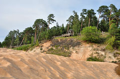 Saulkrasti, η θάλασσα της Βαλτικής, Λετονία στοκ εικόνα