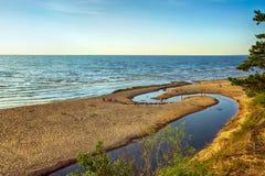 Saulkrasti, Lettonia Fotografia Stock