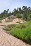 Saulkrasti, mer baltique, Lettonie images libres de droits