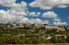 Sault in provence. On beautiful summers day with white clouds in background Royalty Free Stock Image