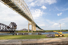 Sault Suite Marie International Bridge Lizenzfreies Stockfoto