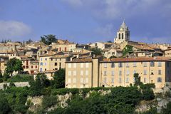 Sault. View of the medieval town Sault, Luberon, southern France Stock Images