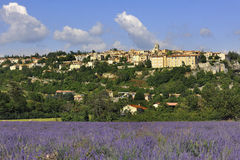 Sault. View of the medieval town Sault, Luberon, southern France Stock Image