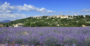 Sault. View of the medieval town Sault, Luberon, southern France Royalty Free Stock Image