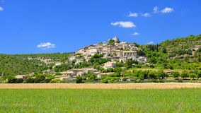 Sault village in France. The old fortified village of Sault in France Stock Photos