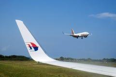 Saumon de Malaysia Airlines Photographie stock libre de droits