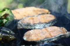 Saumons Photo libre de droits