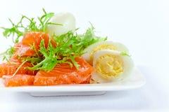 Saumons avec l'oeuf Photo libre de droits