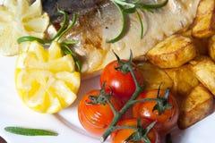 Saumons avec le thym Photos libres de droits
